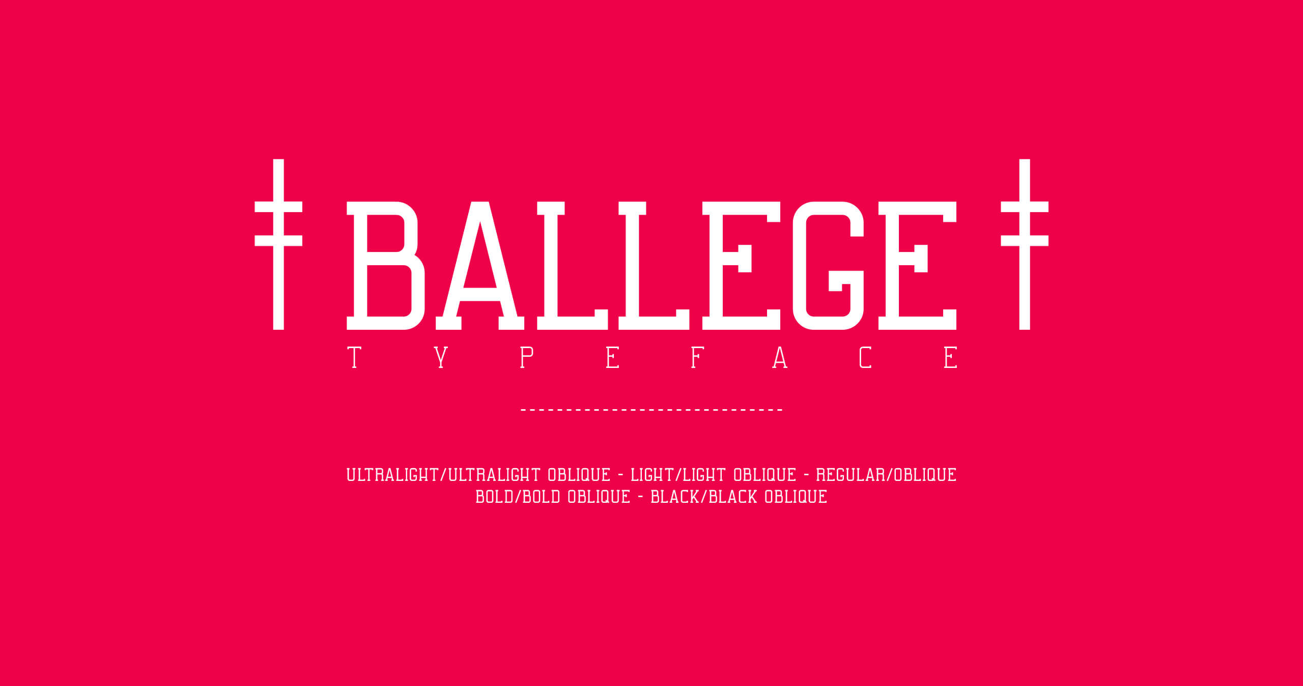 Ballege Typeface Free Font
