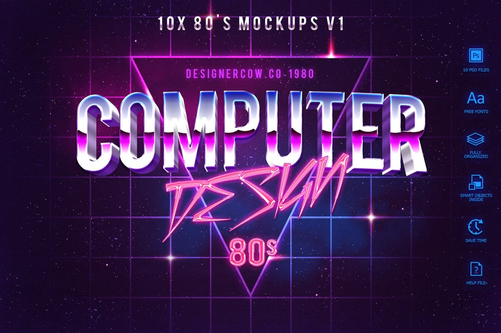 80's Style Text