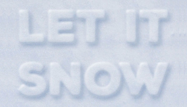Simple 3D Snow Writing Text Effect