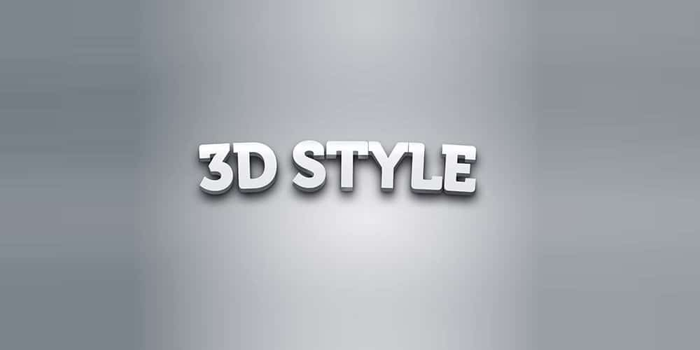 3D Text Effect Style PSD