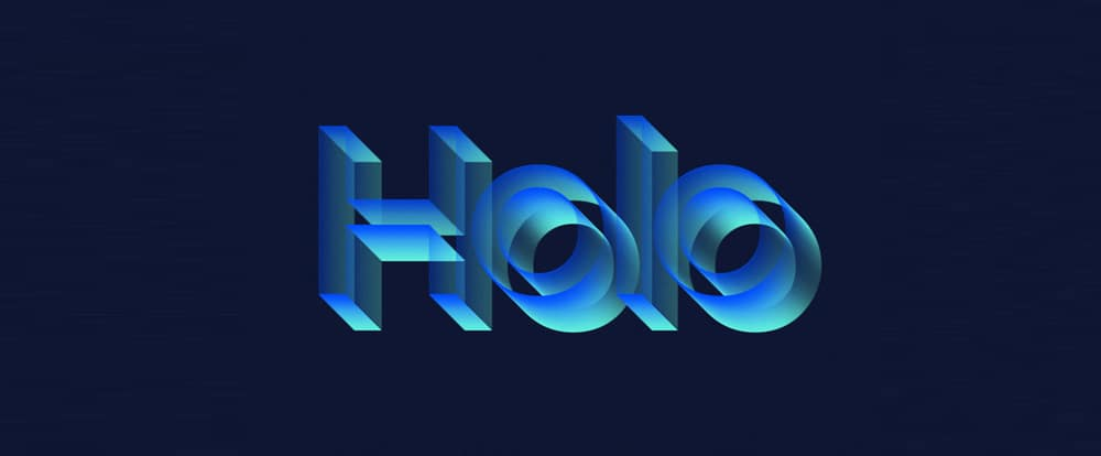 Holo Text Effect PSD
