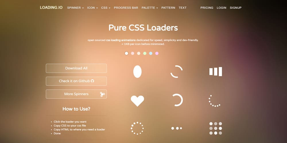 Pure CSS Loaders