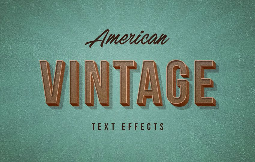 American Vintage PSD Text Effect