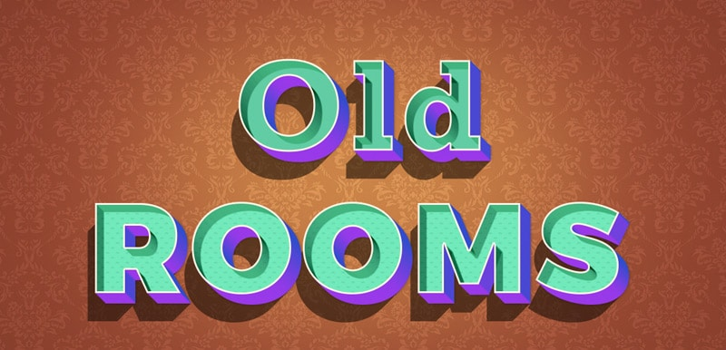 Old Rooms Text Effect PSD