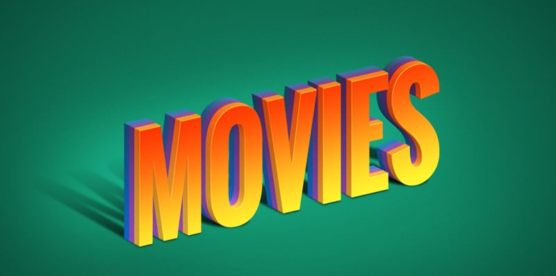 Movies Text Effect PSD