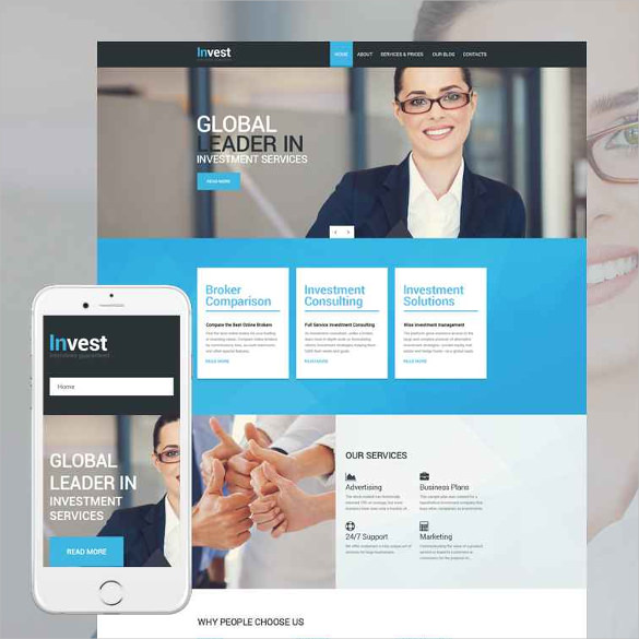 Invest Drupal Responsive Template