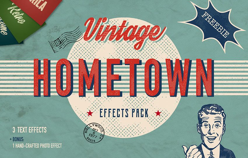 Free Hometown Vintage Text Effects