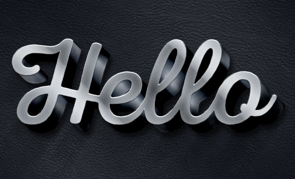 Create an Easy 3D Metallic Text Effect in Adobe Photoshop
