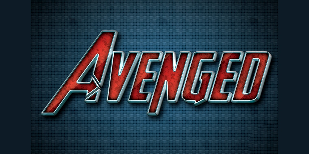 Avenged Text Style PSD