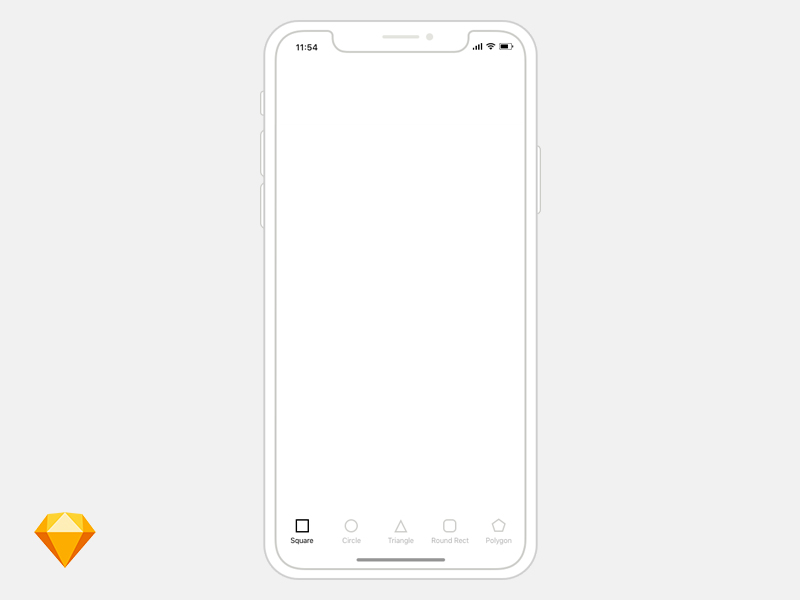 iPhone X Wireframe Template