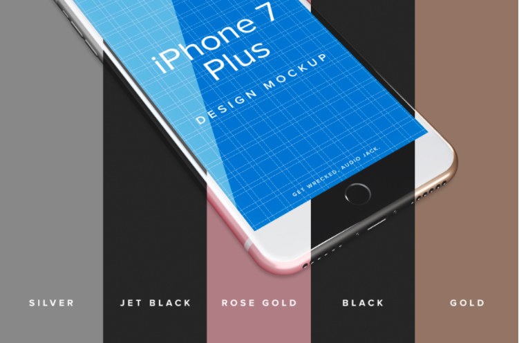 iPhone Plus Free PSD Mockup