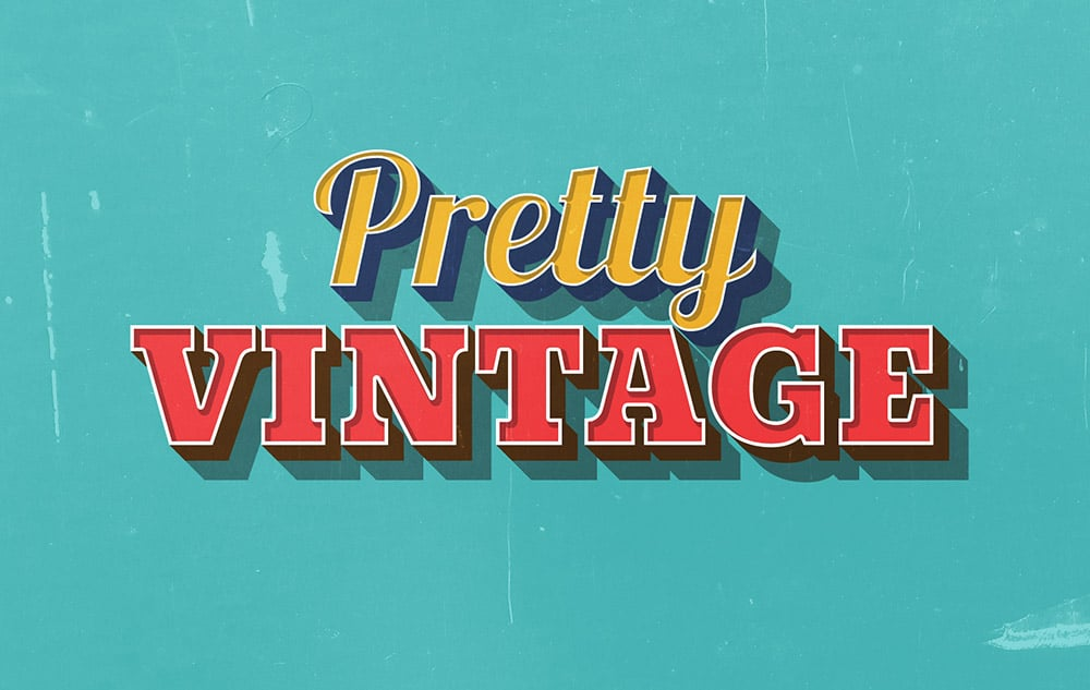 Pretty Vintage Text Effect PSD