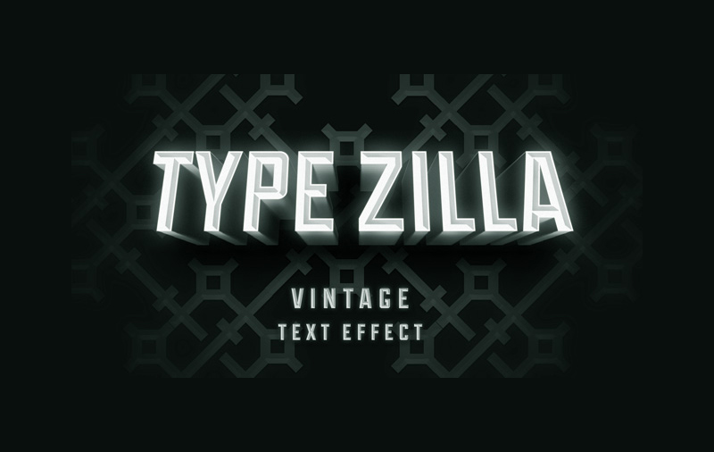 Type Zilla Text Effect PSD