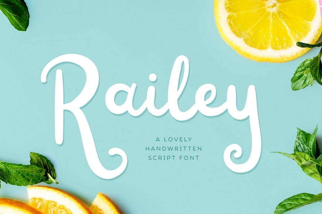 Railey – Free Handwritten Font