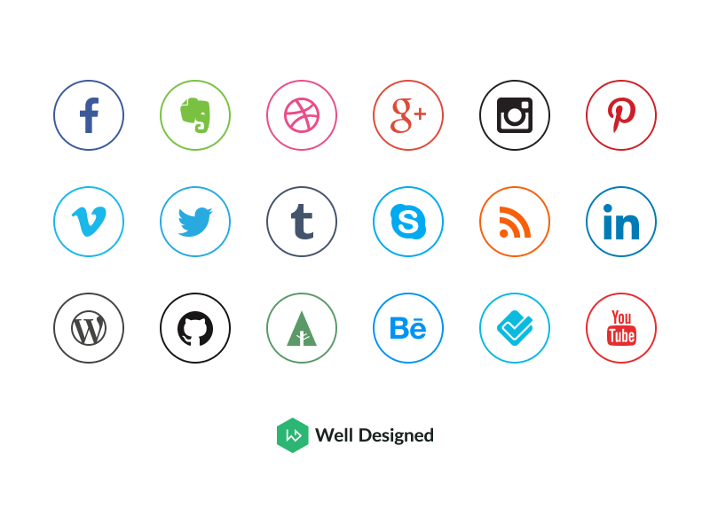 Social Media Icons by Dawid Dapszus