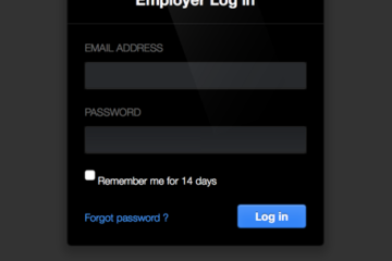 login form snippet