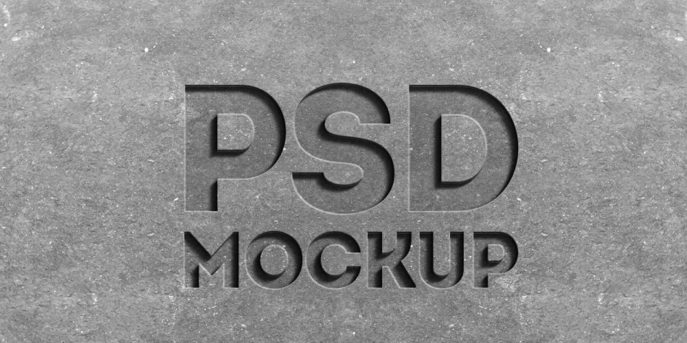 Stone Engraved Text Effect PSD