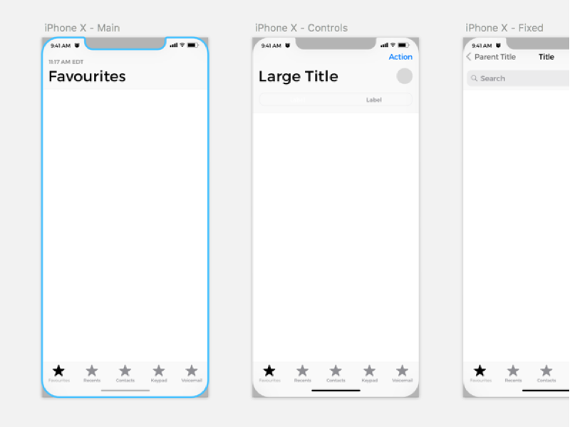iPhone X Wireframe Kit Sketch Resources