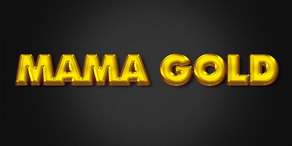 Mama Gold Effect PSD