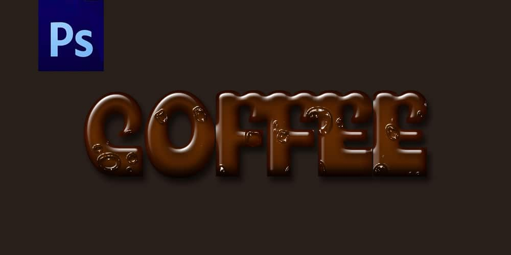 Coffee Text Effect PSD