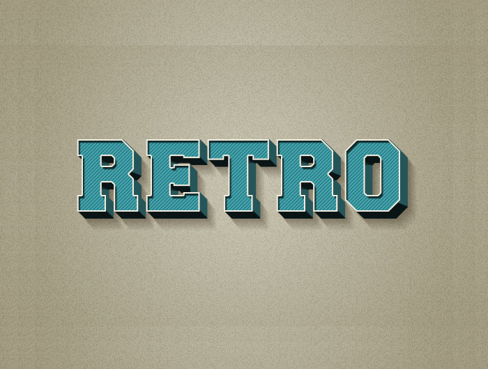 Create a 3D Retro Text Effect in Photoshop