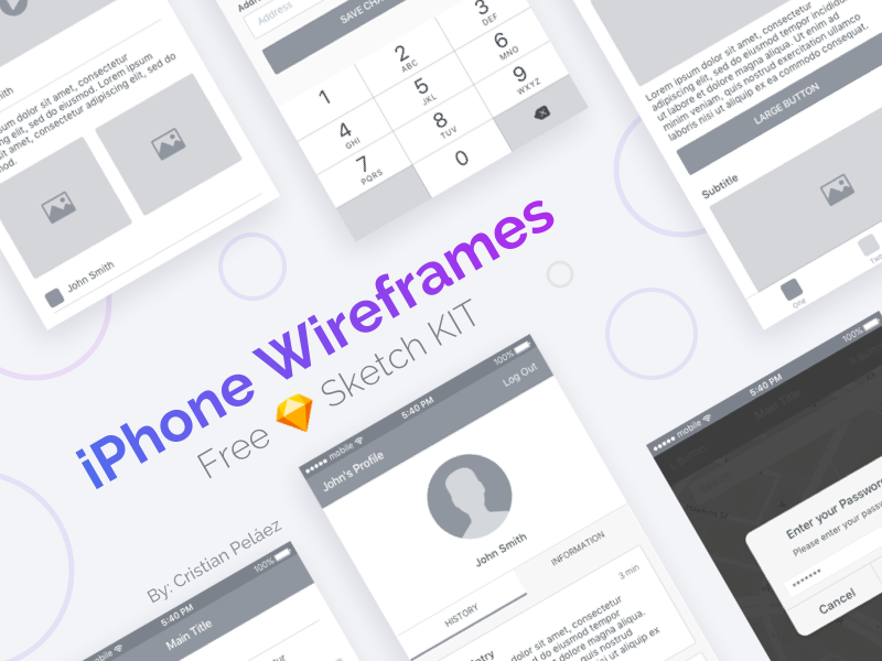 iPhone Wireframes Sketch Resource