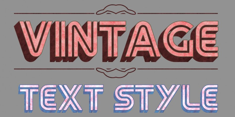 Free Text Style PSD
