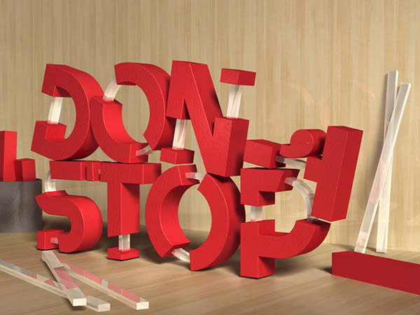 Create 3D Rubber and Glass Text in Photoshop