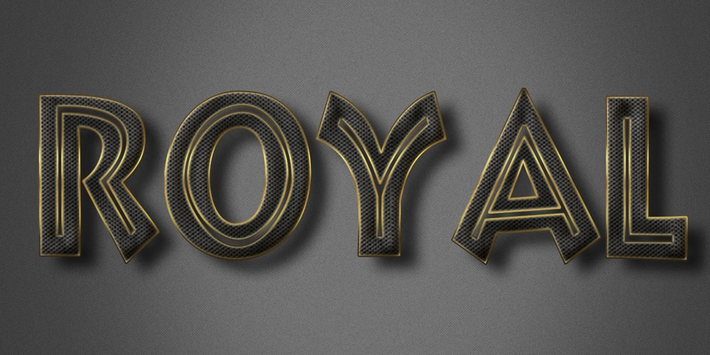 Royal Text Effect PSD