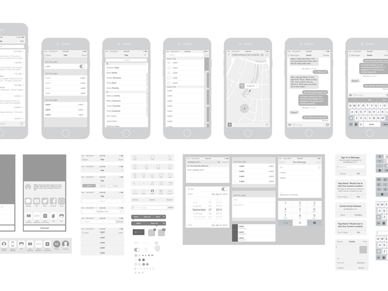 Free iPhone 6 Wireframing Kit and Templates
