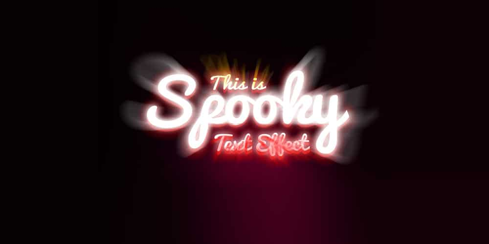 Spooky Text Effect PSD