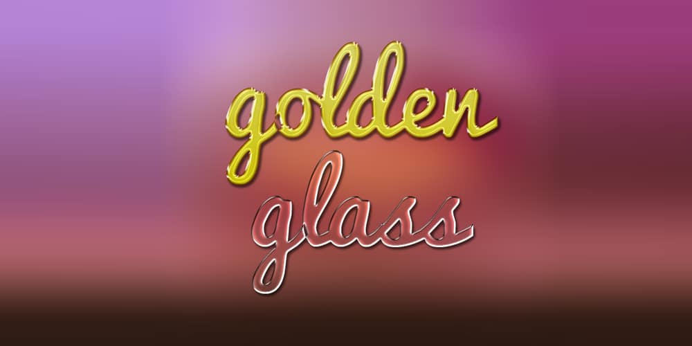 Gold And Glass Text Effects PSD