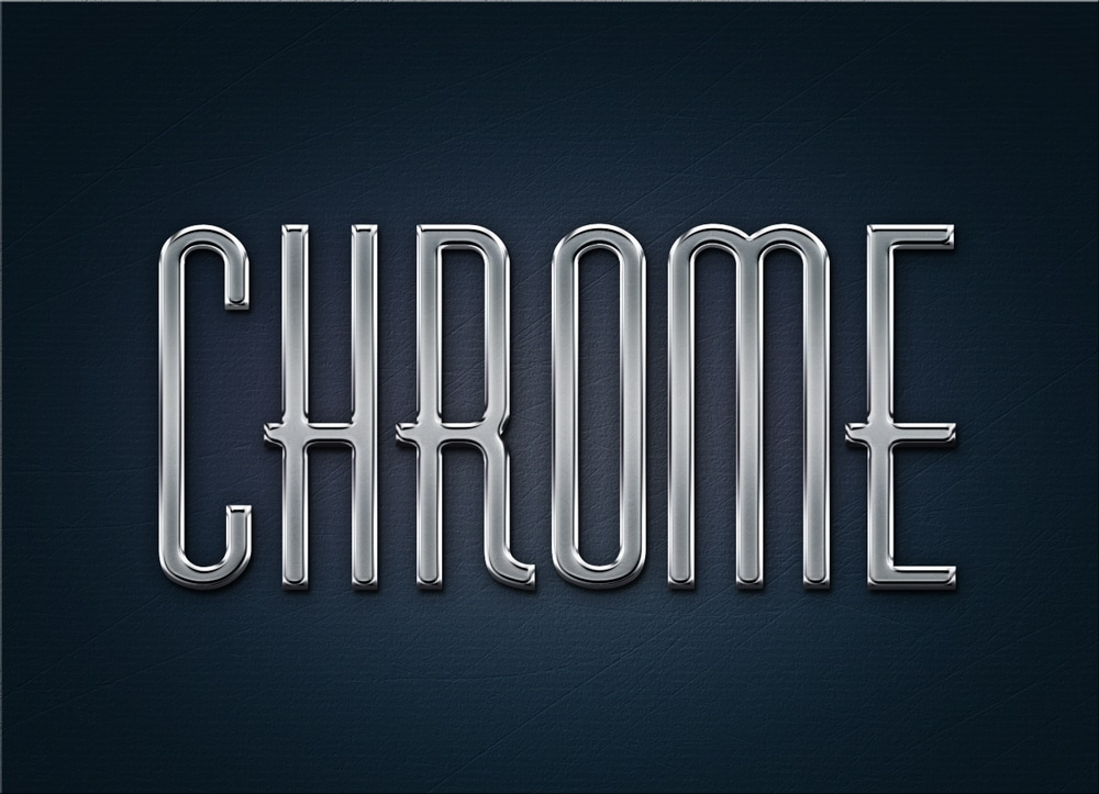 Free Metal Chrome Layer Styles PSD