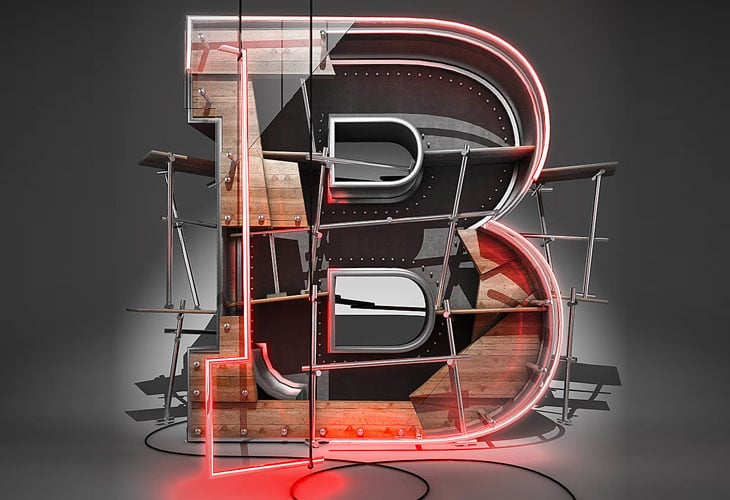 Create a 3D Typographic Illustration