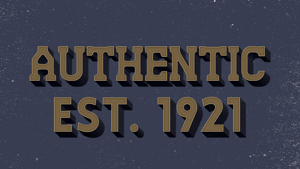Authentic Text Effect PSD