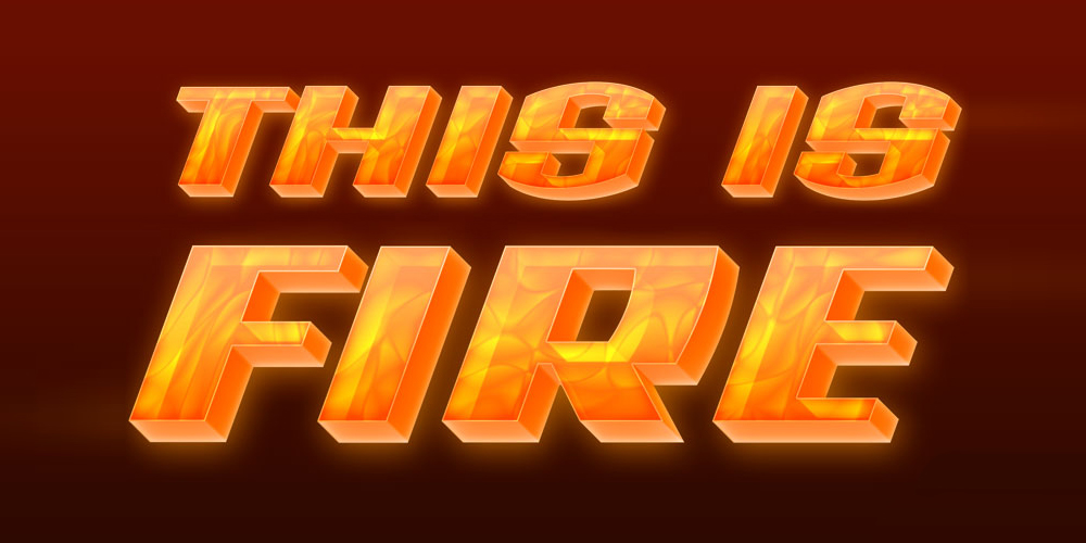 Fire Text Layer Style PSD