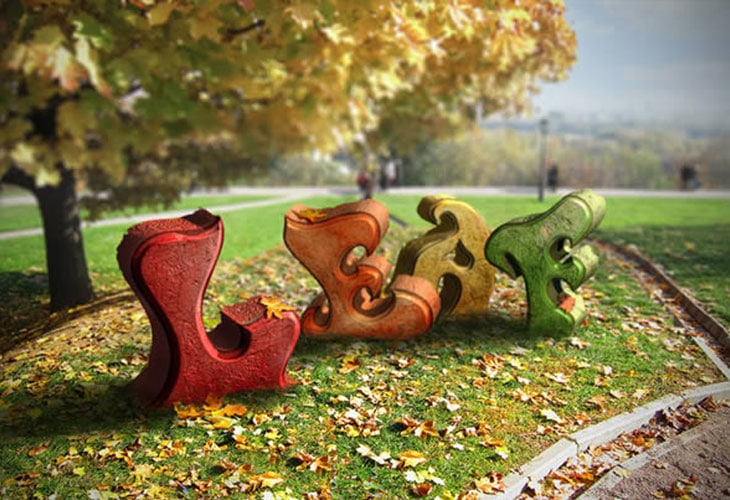 Autumn Themed 3D Text Effect With Photoshop CS6