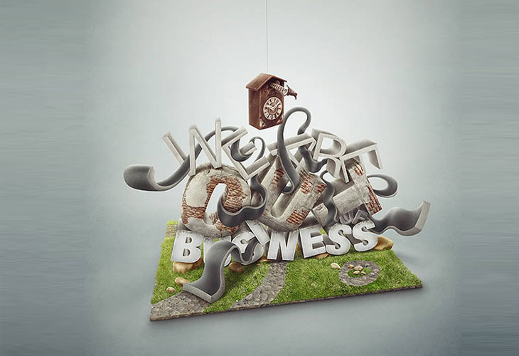 3D Text Effect With Photoshop and Maya