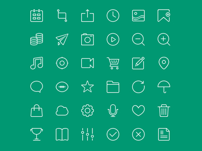 36 Outline Icons
