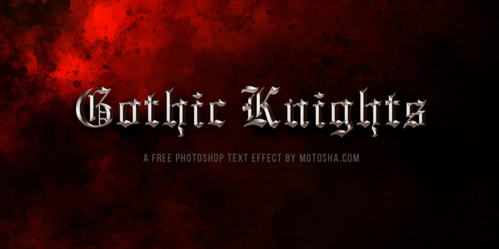 Gothic Knights Text Effect PSD