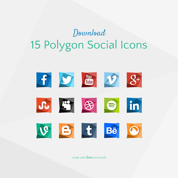 Polygon Social Icons