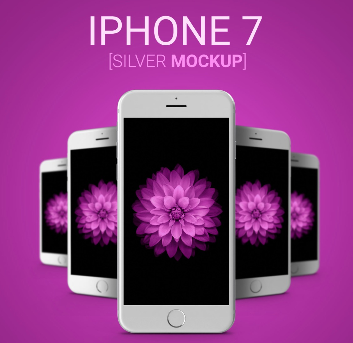 iPhone Silver Mockups