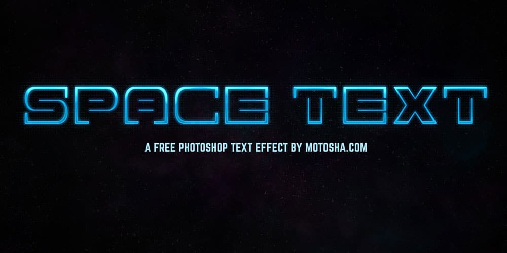 Space Text Effect PSD