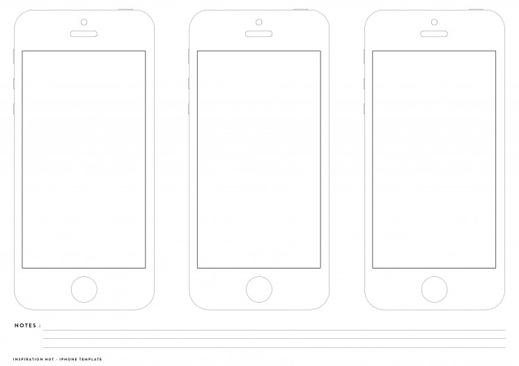 Printable iPhone Wireframe