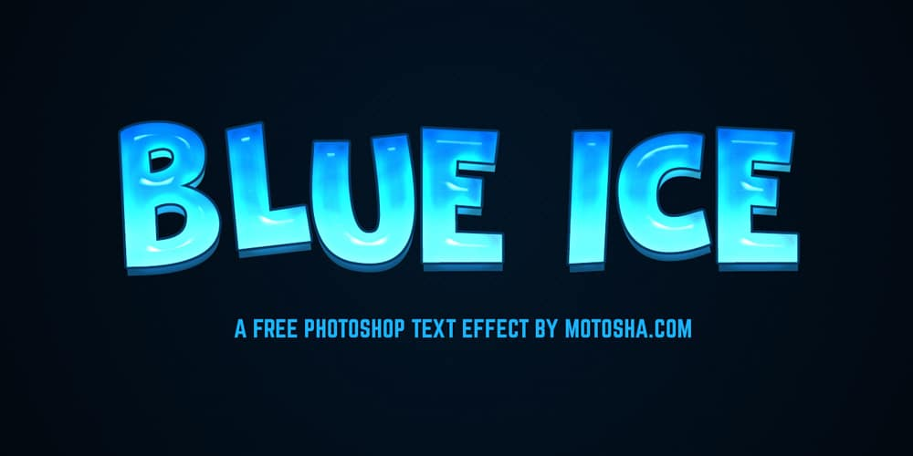Blue Ice Text Effect PSD