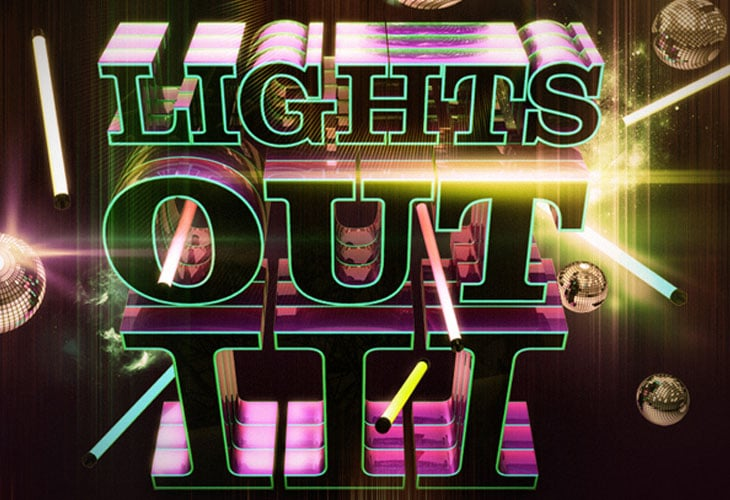 Astonishing Nightclub Themed 3D Typography