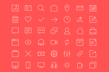 42 Outline Icons