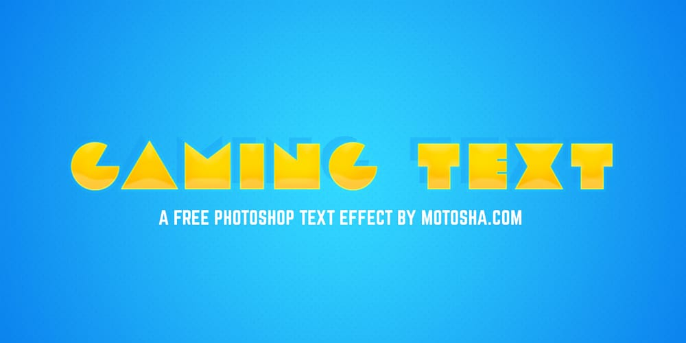Gamer Text Effect for Photoshop