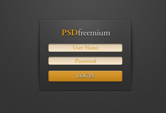 Modern Login Form PSD