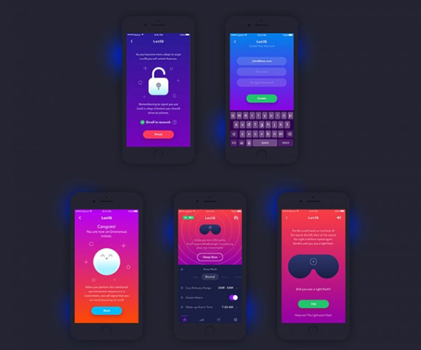 Free Flat iPhone 6 & 7 App UI Design Screen Mockup PSD